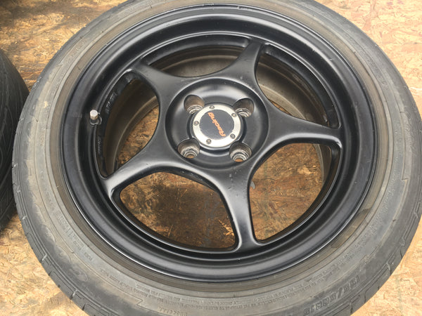 MAZDA MIATA RACING RIMS 195/50/15 4X100
