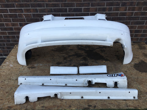 MAZDA MIATA MX5 REAR BUMPER WITH LIP AND SIDE SKIRTS