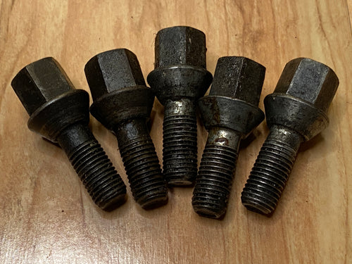 BMW Classic Long Lug Nuts Wheel Bolts USED Set of 5 BMW PART # 36131095390
