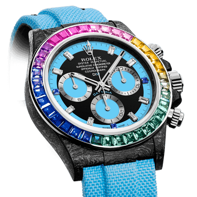 """Rainbow Collection"" is released by using the DIW's custom ROLEX from a sapphire for Bezel."