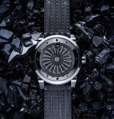 "A new model is released from ""BLADE COLLECTION"" of ""ZINVO"", a unique watch with a turbine type second hand."