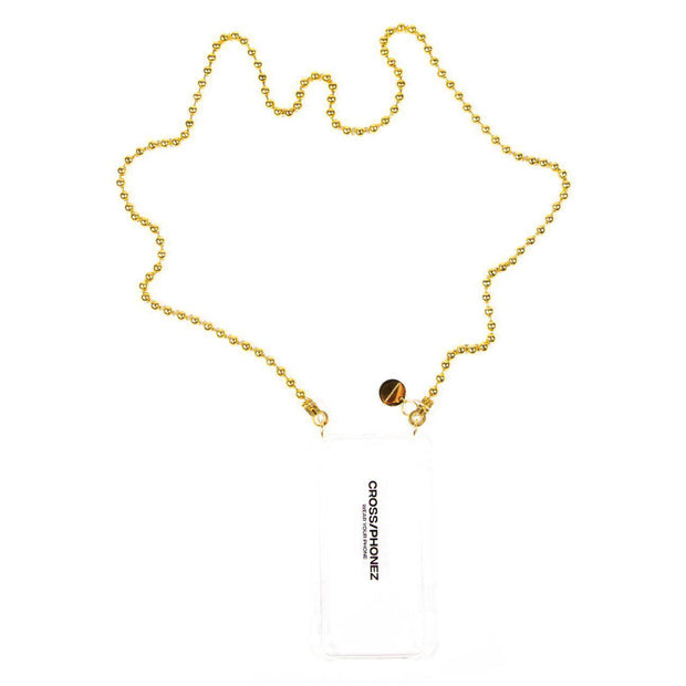 BALL CHAIN GOLD-CROSS/PHONEZ-principeprive