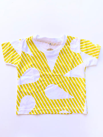 Yellow Graphic Cotton Tee