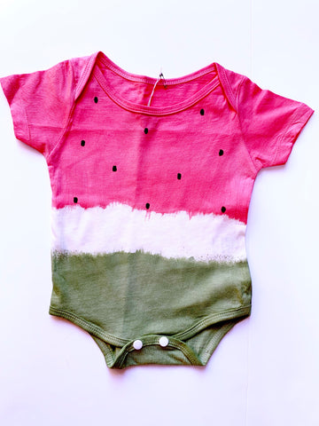 Watermelon Tie Dye Rompers