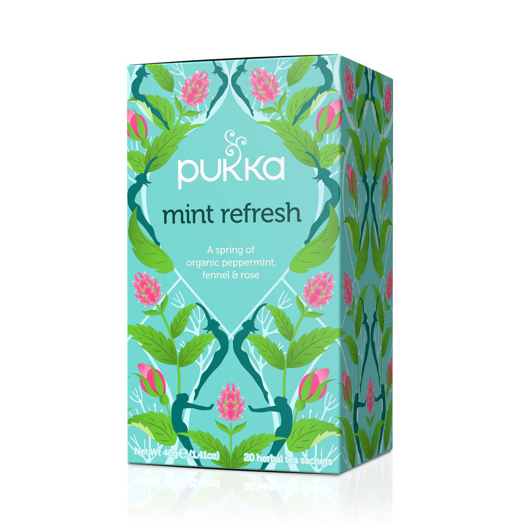 Infusión Mint Refresh, 20 bolsitas, Pukka