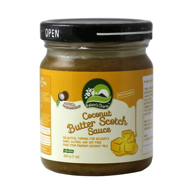 Salsa de Coco sabor Butter Scotch 200 grs, Natures Charm