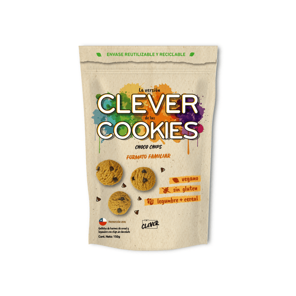 Clever Cookies Choco Chips, formato familiar, 150 grs. Eat Clever