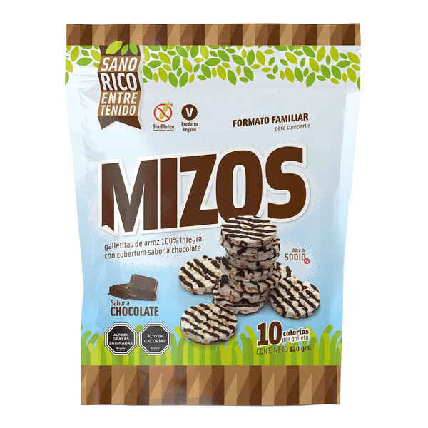MIzos Galleta de arroz Chocolate 120 grs