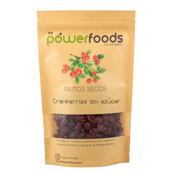 Cranberry sin azucar 250gr, The Powerfoods