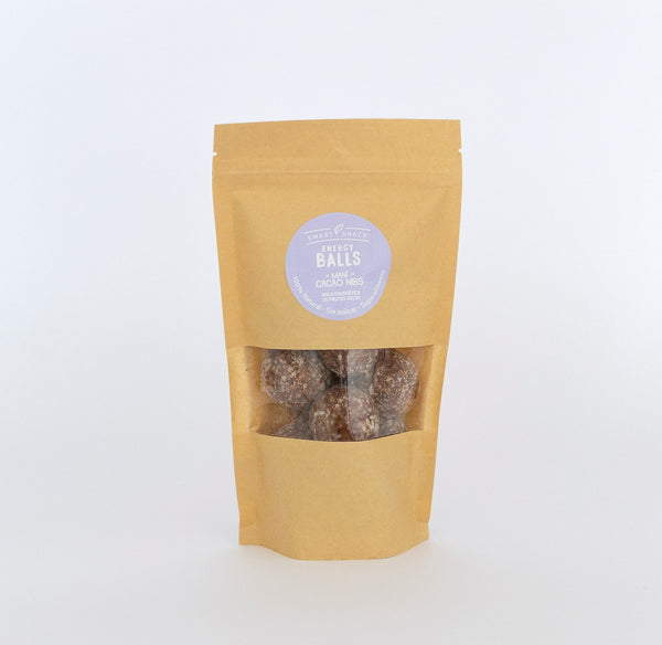 Energy Balls Maní Cacao NIbs, 200 grs, Smart Snack