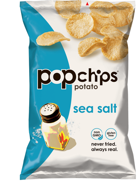 Papas Aireadas con sal de mar 142 grs. Popchips