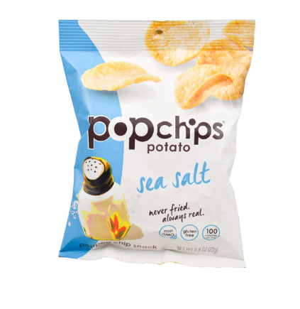 Papas Aireadas con sal de mar 23 grs. Popchips
