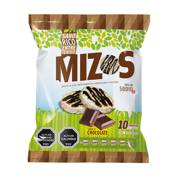 Mizos Galleta de arroz Chocolate 20 grs
