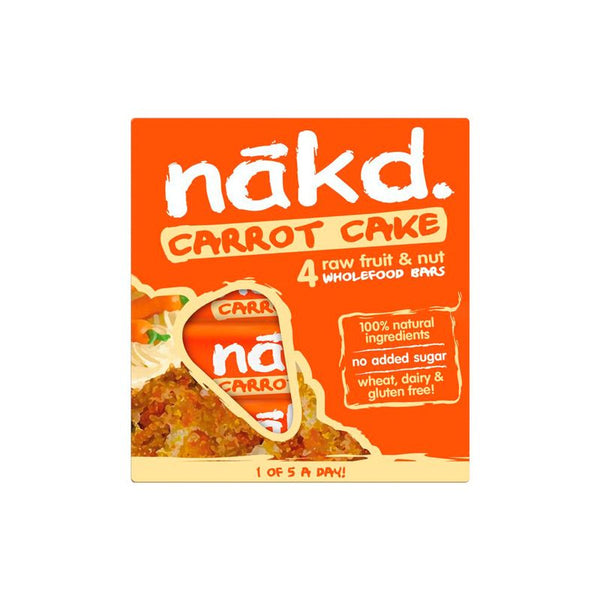 Barra de cereal saludable sin gluten Carrot Cake Pack 4 unidades