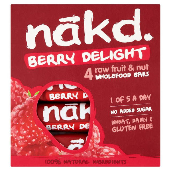 Barra de cereal Nakd Berry Delight Pack 4 unidades (vence 10 nov 2020)