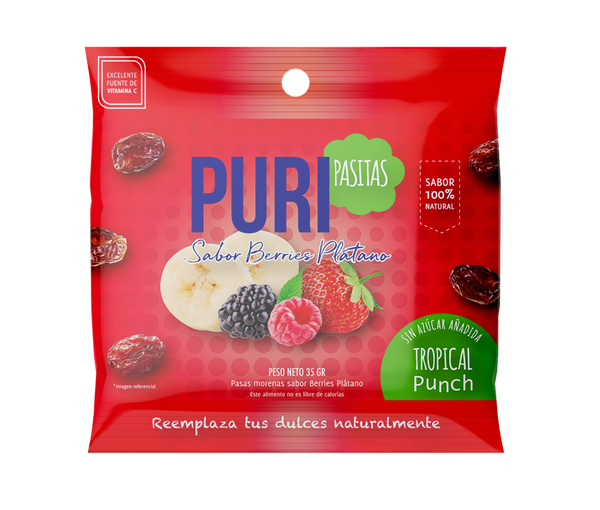 Puripasitas Berries Platano 35 grs