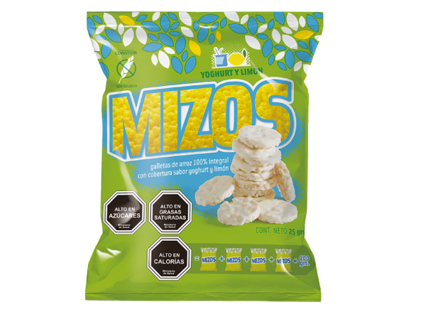 Mizos Galleta de arroz Yogurt y Limon 20 grs