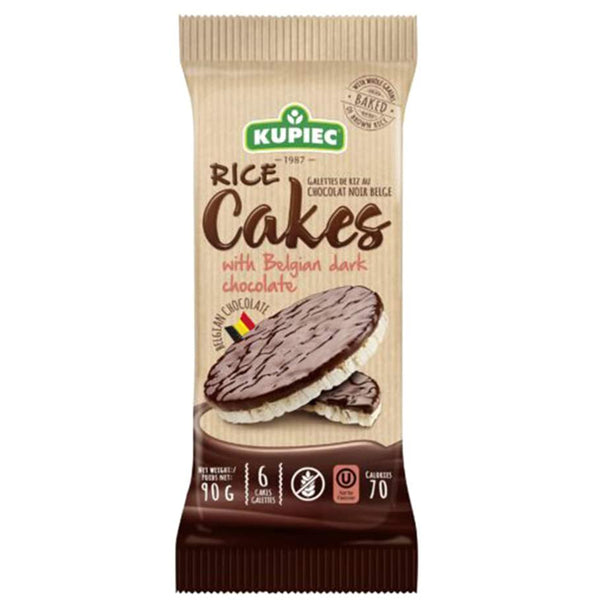Galletas Arroz Dark Chocolate, 90 grs., Kupiec