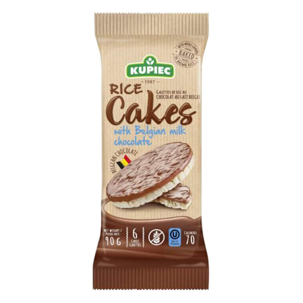 Galletas Arroz Milk Chocolate, 90 grs., Kupiec