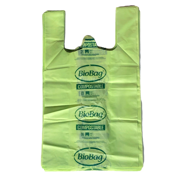 Pack de 10 bolsas compostables camiseta 45x50, Biobag