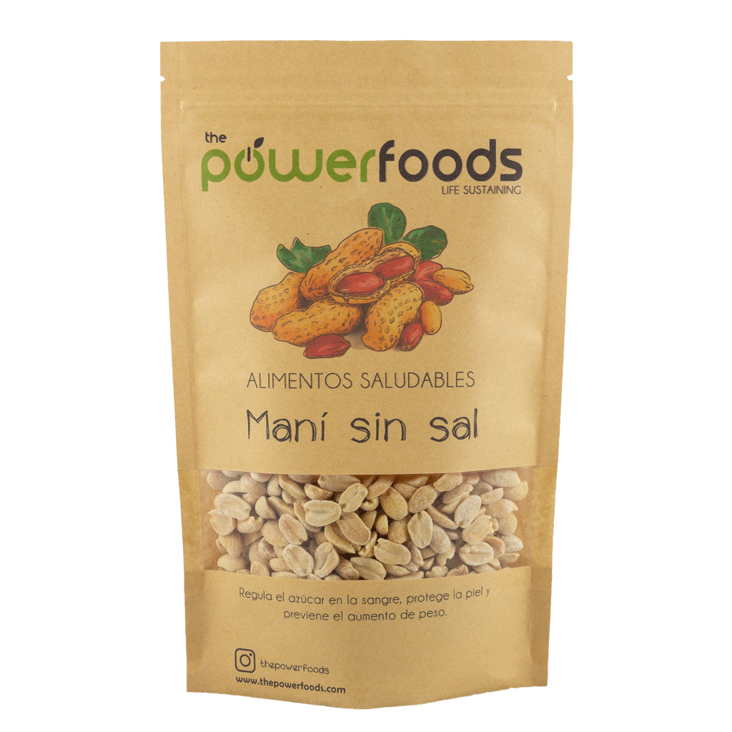 Maní sin sal 500gr, The Powerfoods