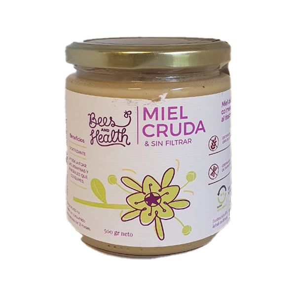 Miel Cruda Cremosa, 500grs. Bees and Health