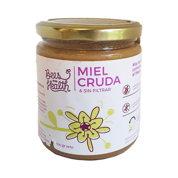 Miel de Ulmo, Cruda Cremosa, 500grs. Bees and Health
