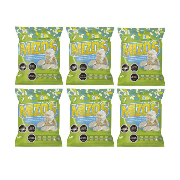 Pack de 6 Mizos Galleta de arroz Yogurt y Limon 20 grs