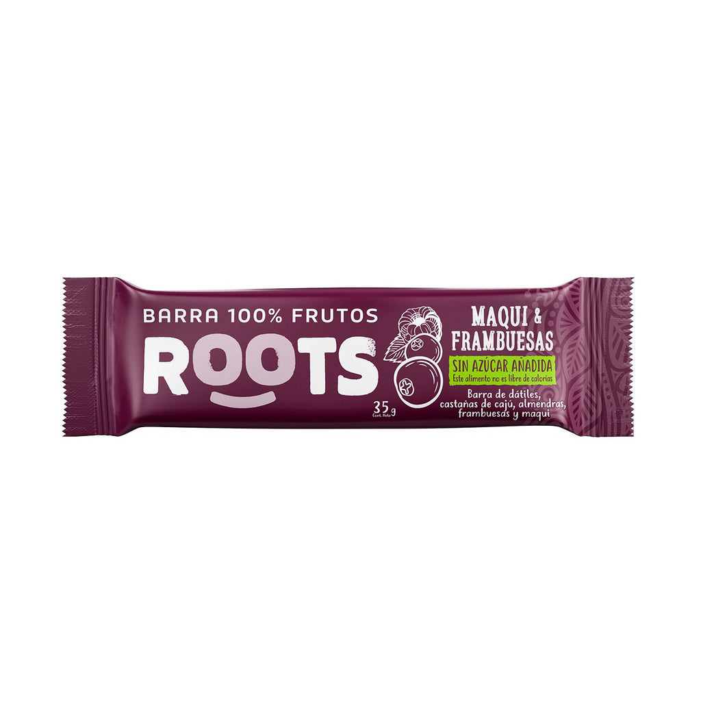 Barra 100% Frutos Roots Maqui Frambuesa 36 grs