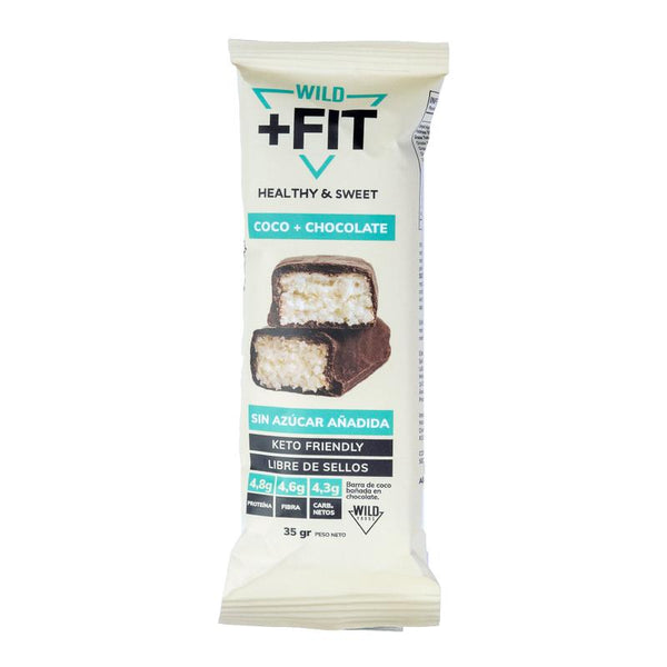 Barrita Wild Fit de coco+chocolate, 35 grs, Wild Foods