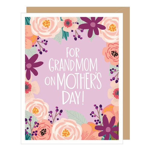Floral Grandmom Mother's Day Card