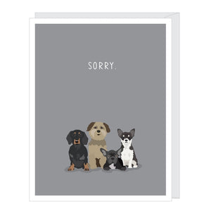 Sorry Dogs Pet Sympathy Card