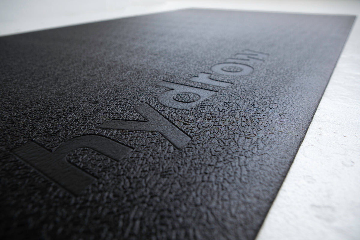 Long Black Machine Mat