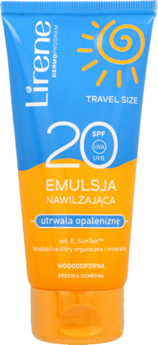 Lirene Moisturizing emulsion fixing the tan SPF20 90ml utrwalajaca opalenizne