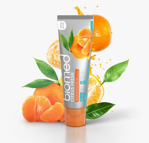 Biomed Toothpaste Citrus Fresh Caries ProtectionEnamel Remineralization rozklad
