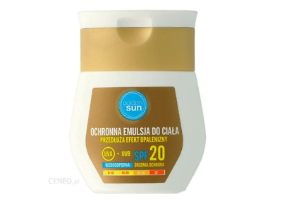GOLDEN SUN protective body emulsion prolonging the tanning effect SPF20 50ml