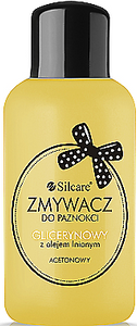 Silcare  Acetone glycerin nail polish remover with linseed oil olejem lnianym