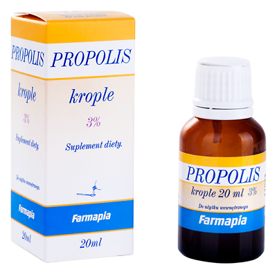 Propolis 3% krople 20ml drops Antibiotic therapy support antybiotykoterapii