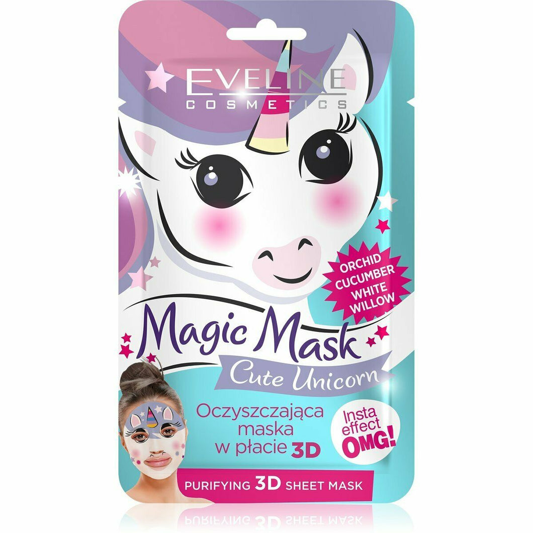 Eveline Magic Mask Cute Unicorn cleansing mask in sheet 1 piece
