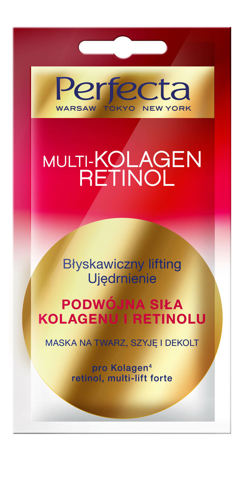 Perfecta Beauty Multikolagen. Mask, instant lifting, firming
