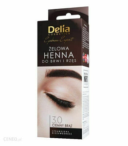 DELIA Pro color henna for eyebrows gel black 15ml + 15ml Ciemny braz