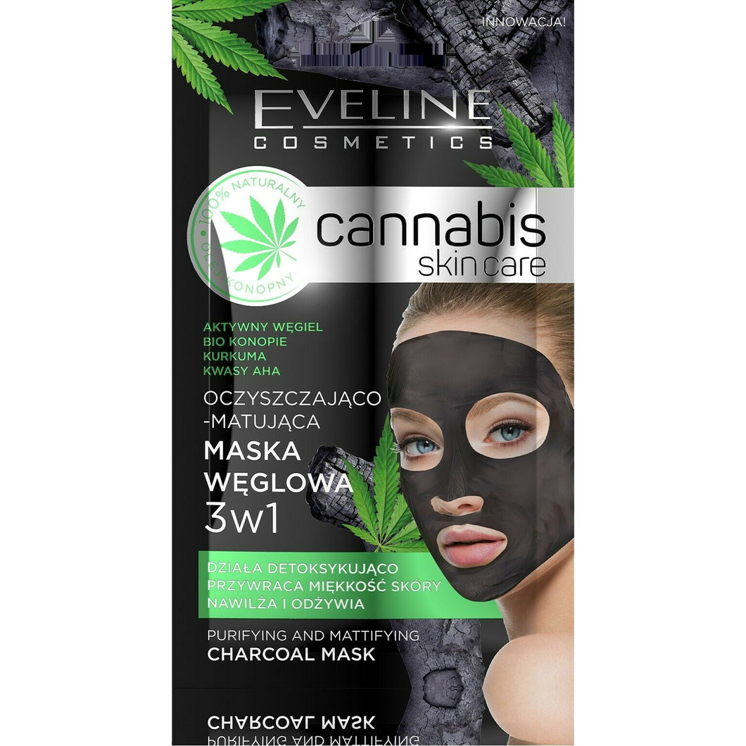 Eveline Cannabis Skin Care Carbon Mask 3in1 7ml