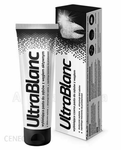 UltraBlanc Charcoal Toothpaste Whitening 75ml Czarna Wybielajaca Pasta Do Zebow