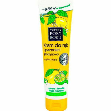 Cztery Pory Roku glycerin hand cream Lemon 130ml Hand cosmetic Roku krem do rak