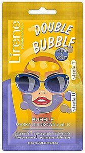 Lirene Double Bubble Yellow & Amp; Violet Clay Face Mask 2X5 G Maska Glinkowa