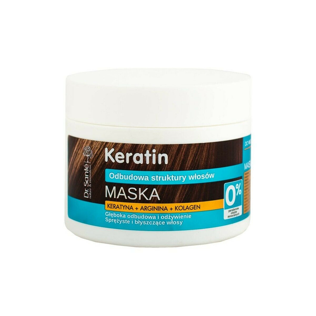 Dr. Sante Keratin Hair Restorative Mask Matte 300ml Hair Mask Maska do wlosow