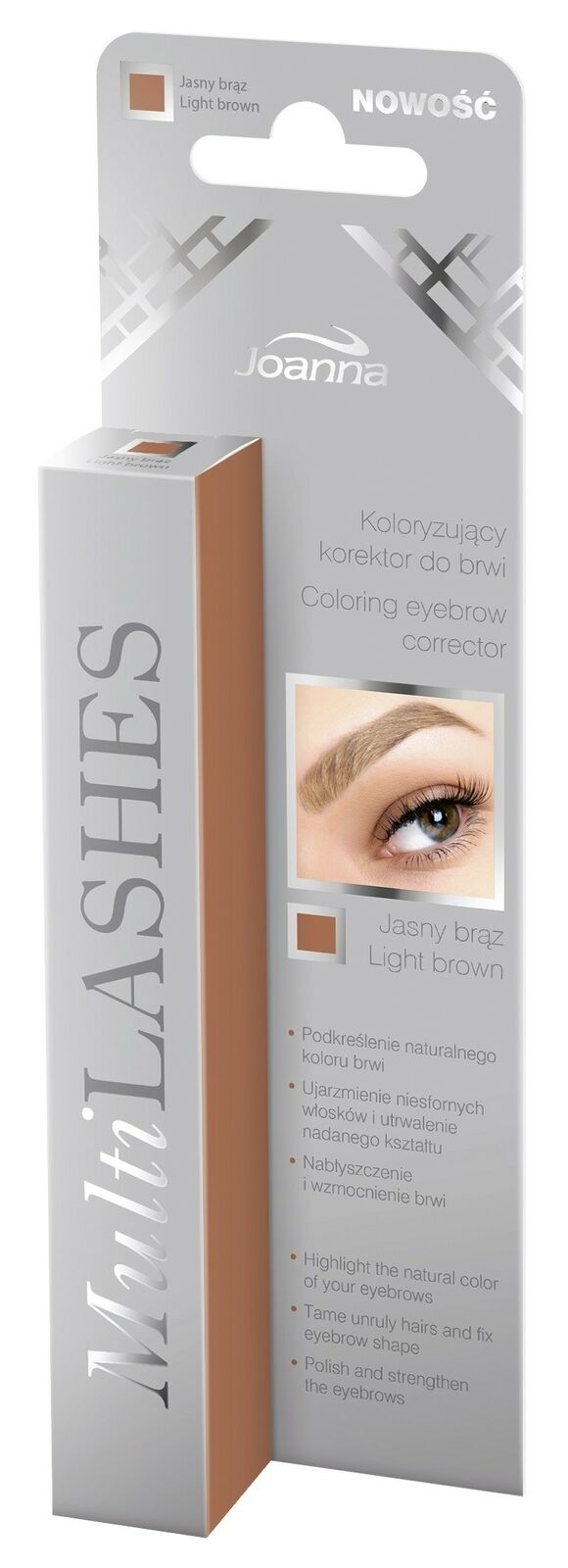 Joanna MultiLashes Coloring eyebrow corrector 3 light brown