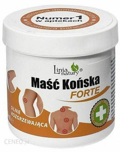 MASC KONSKA FORTE Strongly Warming NATURAL LINE 250ml gel