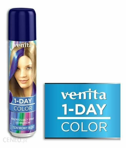 Venita 1-DAY Hair Coloring Spray 12 Emerald Blue 50ml