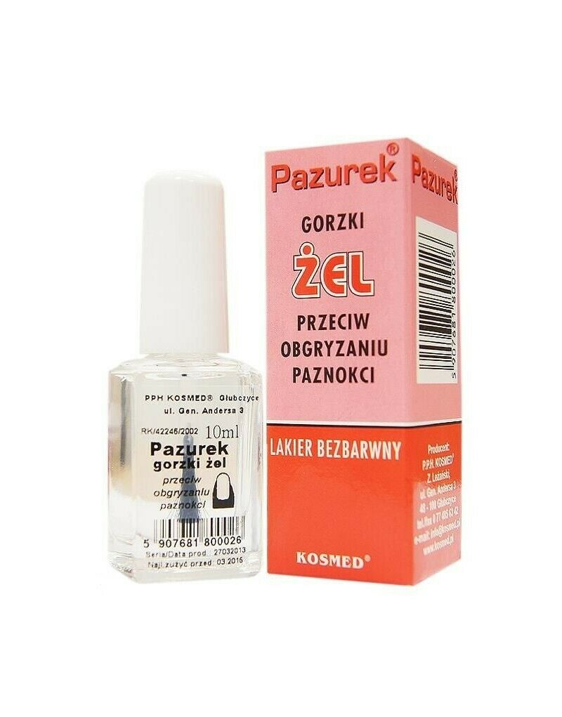 Hand cosmetic KOSMED Bitter claw gel against nail biting 10ml